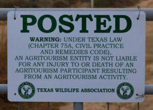 Recreational Use Statute Texas
